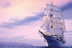 #SEACLOUD II Length: 117.0 - Width: 16.0 m - Year built: 2001 - Passenger decks: 4 - Cabins: 47 - Passengers: max 94 - Crew: 65 - Language on board: English, German - Currency: Euro -  Flag: Malta - Facilities: Restaurant with free seating, Lido deck with bar, lounge, library with laptop, gym, sauna, relaxation  area, swimming platform, hospital, boutique, water skiing, snorkeling equipment Deck Bar, Yacht Cruises, Snorkeling, Malta, Sailing Ships, Skiing, Boat, Clouds, Bar Lounge