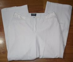 Apt. 9 Women's Cream White Dress Pants Size 12 Modern Fit Zipper Fly #Apt9 #DressPants