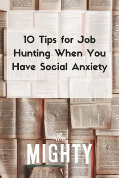 10 Tips for Job Hunting When You Have Social Anxiety Social Anxiety Symptoms, Social Anxiety Test, Anxiety Coping Skills, Anxiety Tips, Anxiety Help, Stress And Anxiety, Anxiety Facts