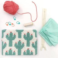 Cactus Zipper Pouch | Free Pattern | Lily Sugar' n Cream