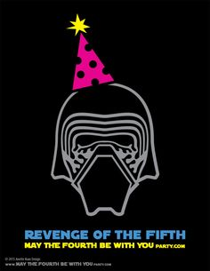 DIY Kylo Ren Star Wars Day Revenge of the Fifth T-shirt/Stencil Pattern. This…