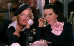 Marilyn & Jane Gentlemen Prefer Blondes coffee scene