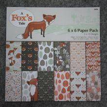 Nový styl 6 '' Dárkové balení Book sady týkajících Roztomilý kreslený Fox příběh 24sheets / Set, balení sada DIY Scrapbooking papíru, origami, papírové řemesla (Čína (pevninská část))