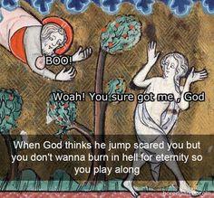 Art History Paintings in American History – Viral Gossip Renaissance Memes, Medieval Memes, Medieval Art, Funny Art, Funny Memes, Hilarious, Medieval Reactions, Art History Memes, Classical Art Memes