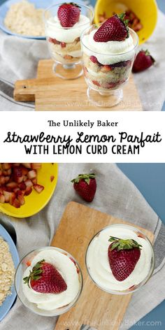 [VIDEO] Strawberry lemon parfait is the perfect spring and summer treat - quick and easy to make, so refreshing, and no baking required!