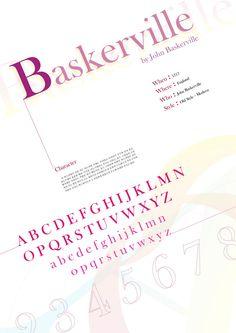 Baskerville   Type Specimen Poster