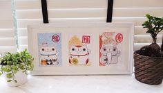 Fu Lu Shou Manineko Cat Prints (Set of 3)