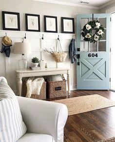 Home Living, My Living Room, Living Room Decor, Small Living, Modern Living, Living Room Remodel, Living Spaces, Farmhouse Sofa Table, Farmhouse Decor