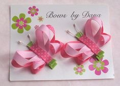 >>>Pandora Jewelry OFF! >>>Visit>> Bows by Dana - she makes the cutest bows EVER. Great ideas to make (or just buy them for cheap! Ribbon Art, Ribbon Crafts, Ribbon Bows, Diy Crafts, Ribbon Flower, Making Hair Bows, Diy Hair Bows, Band Kunst, Hair Bow Tutorial