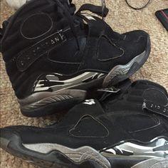 buy popular d8025 5a9ed Jordan Shoes   Jordan 8s   Color  Black Gray   Size  10