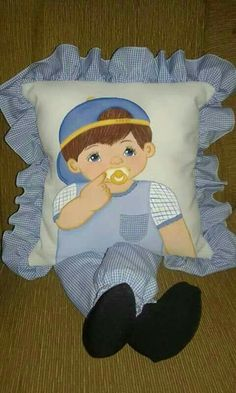 47 Ideas For Baby Diy Crochet Sleeping Bags Quilt Baby, Pillow Embroidery, Applique Quilts, Baby Pillows, Kids Pillows, Hobbies And Crafts, Diy And Crafts, Sewing Crafts, Sewing Projects