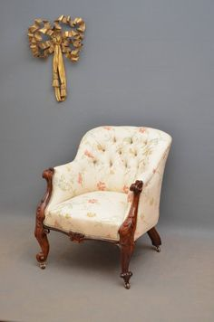 Victorian Rosewood Armchair - Antiques Atlas