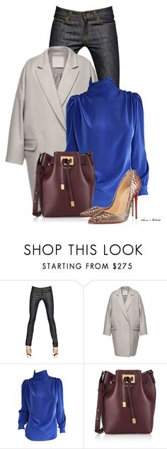 """""""Jeans"""" by sonies-world ❤ liked on Polyvore featuring moda, Yves Saint Laurent, D.Efect, St. John, Michael Kors, Christian Louboutin, jean, Louboutin y oversizedcoat"""
