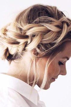 Braided Crown using Ash Blonde #LuxyHairExtensions on @fakander <3