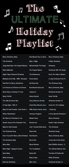 Listen to the ultimate holiday playlist here//