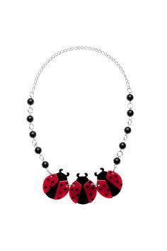 Set off the vivid red by matching it with red lipstick or nailpolish. Red Lipsticks, Fashion Accessories, Chokers, Pendants, Jewels, Statement Necklaces, Ladybugs, My Love, My Style