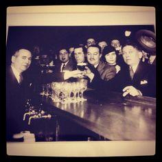 H.L. Mencken drinking at the Rennert Hotel, 1933
