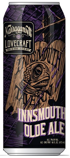 Innsmouth Olde Ale: The second beer of the Lovecraft series-   Innsmouth Olde Ale is made with a complex blend of malts and rye followed by just a touch of hops, producing a bold yet balanced English-style Olde Ale.