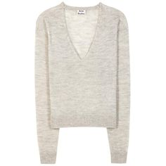 Acne Studios Rhea Alpaca and Wool Sweater (411,005 KRW) ❤ liked on Polyvore featuring tops, sweaters, grey, acne studios, grey top, gray wool sweater, alpaca sweater and wool sweater