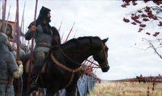 """Peresvet"". Before the battle of Kulikovo in 1380. By A.V. Gorodnichev"