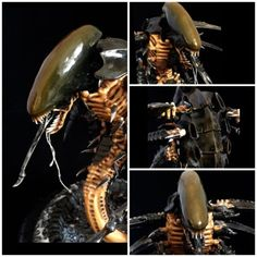 Games-workshop-Tyranid-trygon-pro-painted-with-part-sculpted-head-alien-style