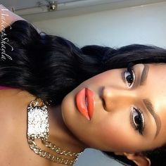 .@makeupshayla | Morange lipstick by MAC. Temptress lashes from @Allison House! of Lashes and Neck candy ... | Webstagram - the best Instagram viewer