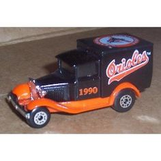 Baltimore Orioles 1990 MLB Diecast Ford Model A Truck 1/64 Scale Baseball Team Collectible Matchbox White Rose by MLB  $18.39