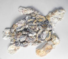 Oyster shell Sea turtle Sculture by ForestMeetsSea on Etsy