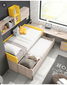 Mobilia Living 7 Palmas added a new photo. Home Office Furniture Design, Bed Design, Small Bedroom Inspiration, Home Bedroom, Room Design Bedroom, Small Room Bedroom, Bedroom Bed Design, Living Room Design Modern, Kid Room Decor