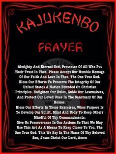 Kajukenbo  Prayer