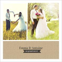 carte de remerciements de mariage amour en cage personnaliser sur http - Texte Remerciement Mariage Personne Absente
