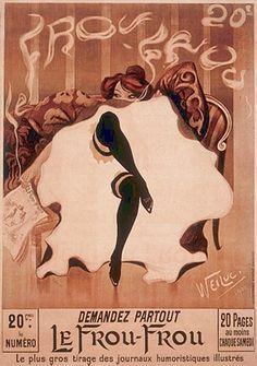 Le Frou-Frou Lucien-Henri Weiluc 6147   Paper: 26 3/8 x 18 7/8 Image: 24 3/4 x 17 3/8   Retail $20.00