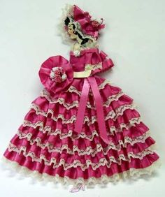 Ribbon doll - common in the 20s and 30s