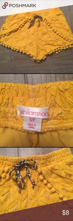 Xhilaration shorts Adorable shorts with elastic drawstring waist.  Cute details Xhilaration Shorts
