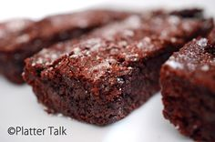 Chocolate Brownies using the iconic Thomas Keller's recipe.