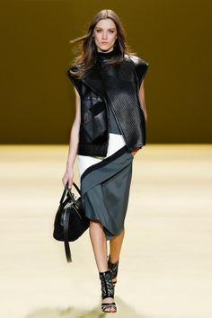 Look 9 from the J. Mendel Fall 2014 runway show  Watch the Fall 2014 show here: http://www.jmendel.com/fall-2014-fashion-show