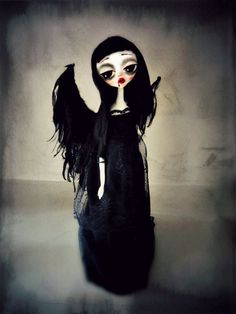 Ghost girl-Art doll OOAK soft sculpture Art by MademoisellesBleues