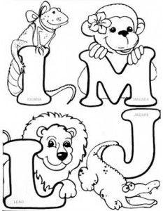 alfabeto-animais-colorir-enfeite-sala-de-aula-(2) Embroidery Alphabet, Embroidery Patterns Free, Hand Embroidery Designs, Colouring Pics, Coloring For Kids, Coloring Books, Alfabeto Animal, Alphabet Templates, Alphabet Design