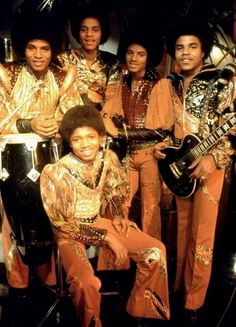 Brotherly love with The Jacksons. (L-R Jackie Jackson, Marlon Jackson, Michael Jackson, Tito Jackson, and Randy Jackson.)