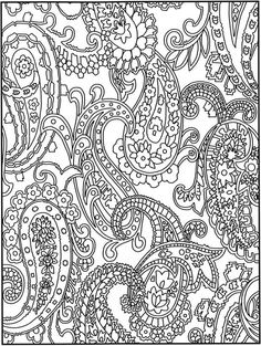 Check out this cool looking paisley pattern inspired adult coloring page! You can do some sassy things with this one!