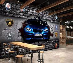 3d Wallpaper Cars, Car Wallpapers, Wallpaper Art, 3d Wall Murals, Floor Murals, Car Wash Business, Break Wall, Niklas, Car Furniture
