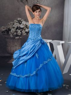 Strapless Appliqued Satin and Organza Quinceanera Dress with Pick Up Brands:Luxe EliseFreeship:YESModel Name:QueridaTailoring Time (Standard):20-25 DaysTailoring Time (Rush Order):15-20 DaysSilhouette:Ball…