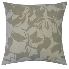 20 x 20-inch Peony Throw Pillow