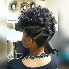 nice Natural Hair Updo..Flexi Rod Set..Flat Twist www.addisonrenee.com www.addisonren...