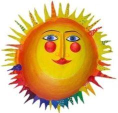 Sonne,  Durchmesser ca.49 cm, Pappmache von villaazula auf DaWanda.com