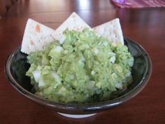 Avocado Egg Salad, great with crackers or.....