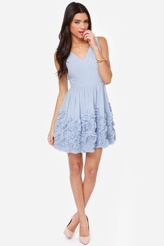 Out of this Whirl Periwinkle Blue Dress