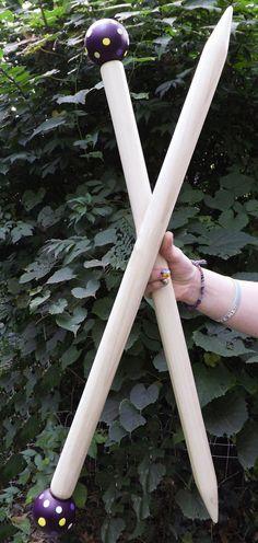 "SALE-17"" Jumbo Knitting Needles 17""SMOOSH STIX Made for Smoosh Yarn."