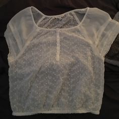 Short sleeved top Cute sheer short sleeve summer shirt American Eagle Outfitters Tops Blouses