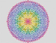 PATTERN Spectral Mandala Cross Stitch Chart di theworldinstitches